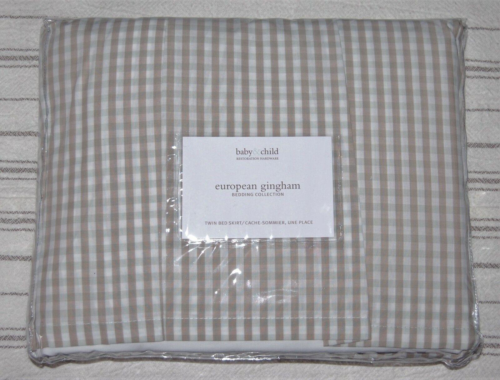 New Restoration Hardware Baby Child Twin Bed Skirt European Gingham For Sale Online