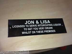 """PERSONALISED Licensee 8x10/"""" Metal Sign Party BBQ Pub Gift Idea Garden Dad #123"""