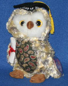 f9872d61f08 TY SMARTY the OWL BEANIE BABY - MINT with MINT TAGS - TY STORE ...