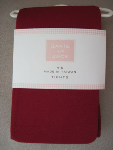 NWT Janie and Jack  Red Microfiber Tights//Stockings Size 2T 3 4 5 6 7 8 10 11 12