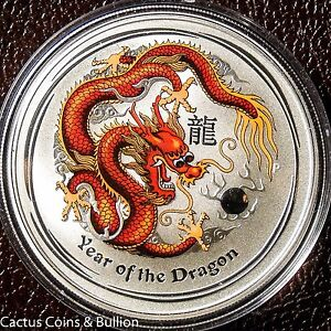 2012-P-Australia-Year-Of-The-Dragon-Colured-Red-amp-Yellow