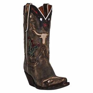 6e4d859ba26 Details about Dan Post Womens Brown Vintage Leather Dreams Longhorn 11