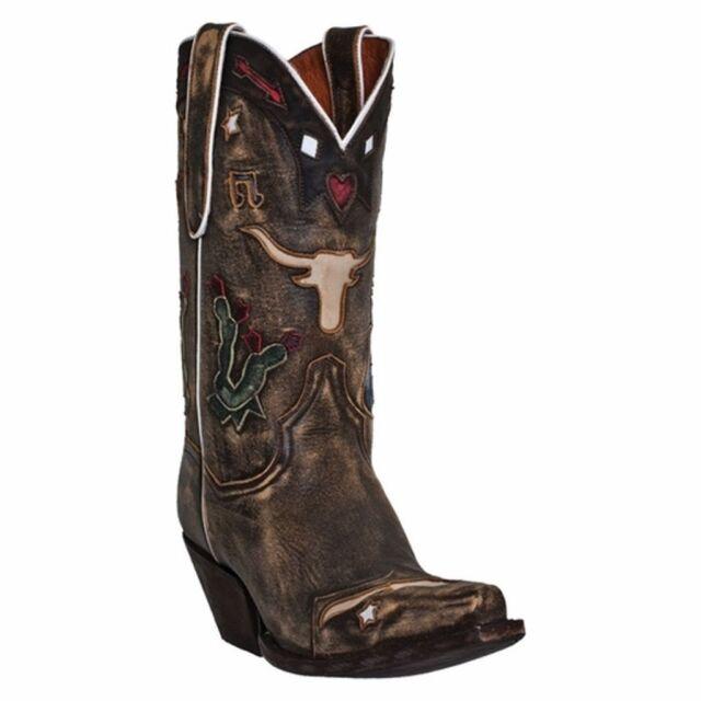 2c28b9e9b51 Dan Post Womens Brown Vintage Leather Dreams Longhorn 11