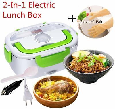 Boîte à Repas Lunch Box Nifogo Chauffant Électrique Inox 12V//220V 2 en 1 Bleu