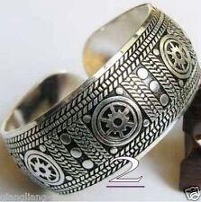 2017 New Tibetan Tibet silver Totem Bangle Cuff Bracelet #2