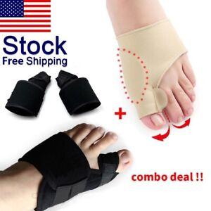 2Types-Big-Toe-Bunion-Splint-Straightener-Corrector-Hallux-Valgu-Relief-Pain-US