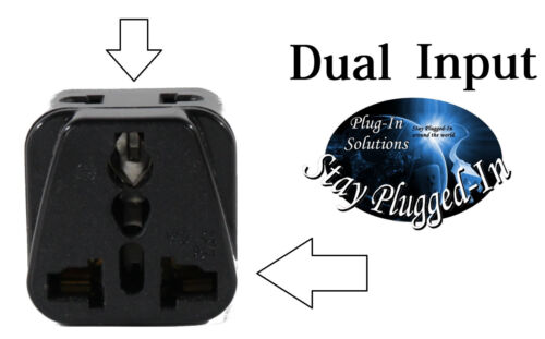 US to SPAIN Travel Adapter Plug Dual USA//Universal EUROPE Type E C//F Pack 1