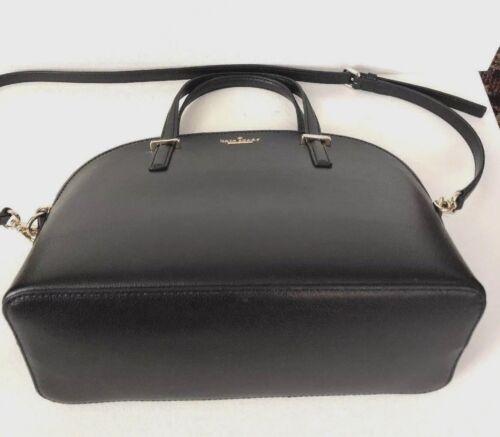 New Kate Spade Carli Patterson Drive Pebble Leather handbag Black