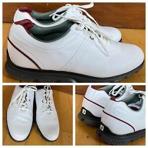 footjoy fj dryjoys casual men white leather spikeless golf