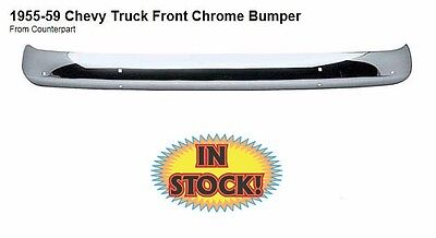 1955-1959 Chevy Pickup Truck Front Bumper Chrome Dynacorn New
