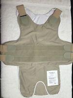 Carrier For Kevlar Armor + Custom Tan Xl/s + Bullet Proof Vest- Body Guard +new