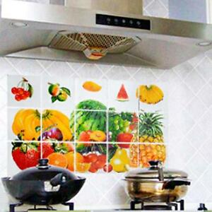 Fruits Waterproof Kitchen Sticker Bathroom Tile For Wall Sticker