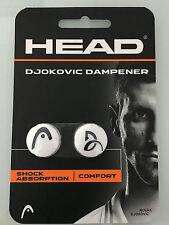 HEAD WHITE DJOKOVIC SIGNATURE DAMPENERS --- PACK OF 2!