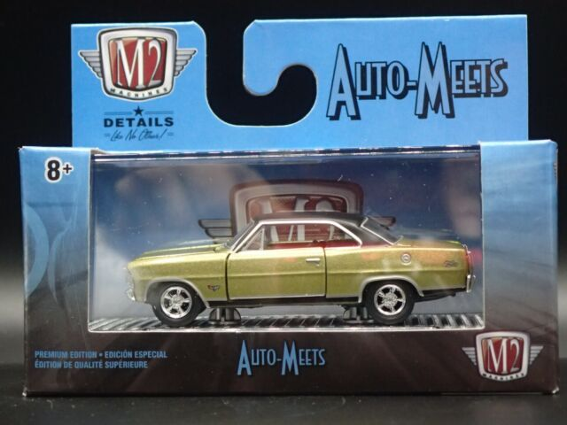 M2 Machines by M2 Collectible Detroit-Muscle 1967 Chevy Nova 1:64 Scale 10-13 Silver//Black Top Details Like NO Other!