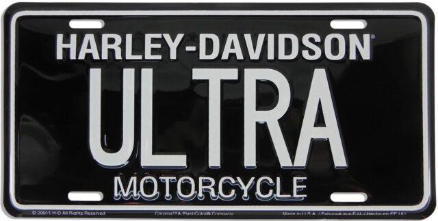 Harley Davidson Ultra Classic Embossed Metal Vanity Car License Plate Auto Tag