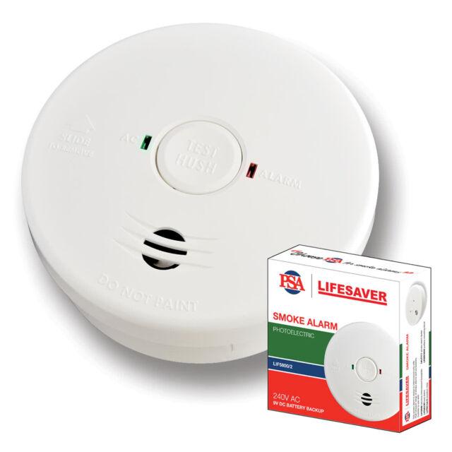NEW PSA Lifesaver Series 2 LIF5800-2 Smoke Alarm Detector Photoelectric 240V - 9