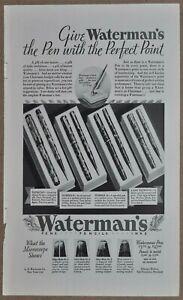 1932-WATERMANS-Fountain-Pen-advertisement-4-models-pen-amp-pencil-sets