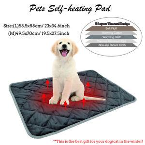 Hundebett-Selbstheizende-Decke-fuer-Katzen-Hunde-Waermematte-Haustier-Katzendecke