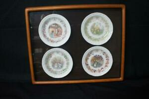 4-Framed-Royal-Doulton-Brambly-Hedge-Four-Seasons-Small-Plates-Coasters-4-3-4-034