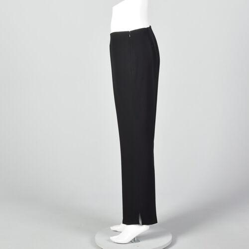 Celine de Geplooide broek Vtg in gescheiden enkelsplitten M zwarte broek Klassieke wollen pijpen FTwFCq