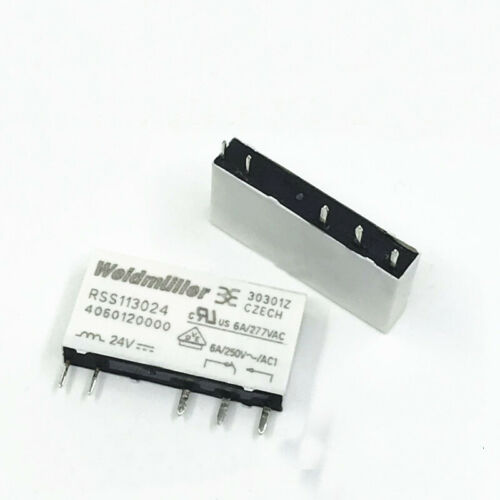 Weidmuller RSS113005 RSS113012 RSS113024 Solid State Relay 6A 250VAC 5 Pins