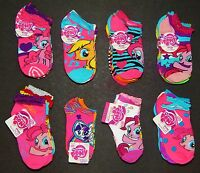 My Little Pony Pinkie Rainbow Twilight 5 Or 6-pack Low Cut Socks Girls Ages 1-10