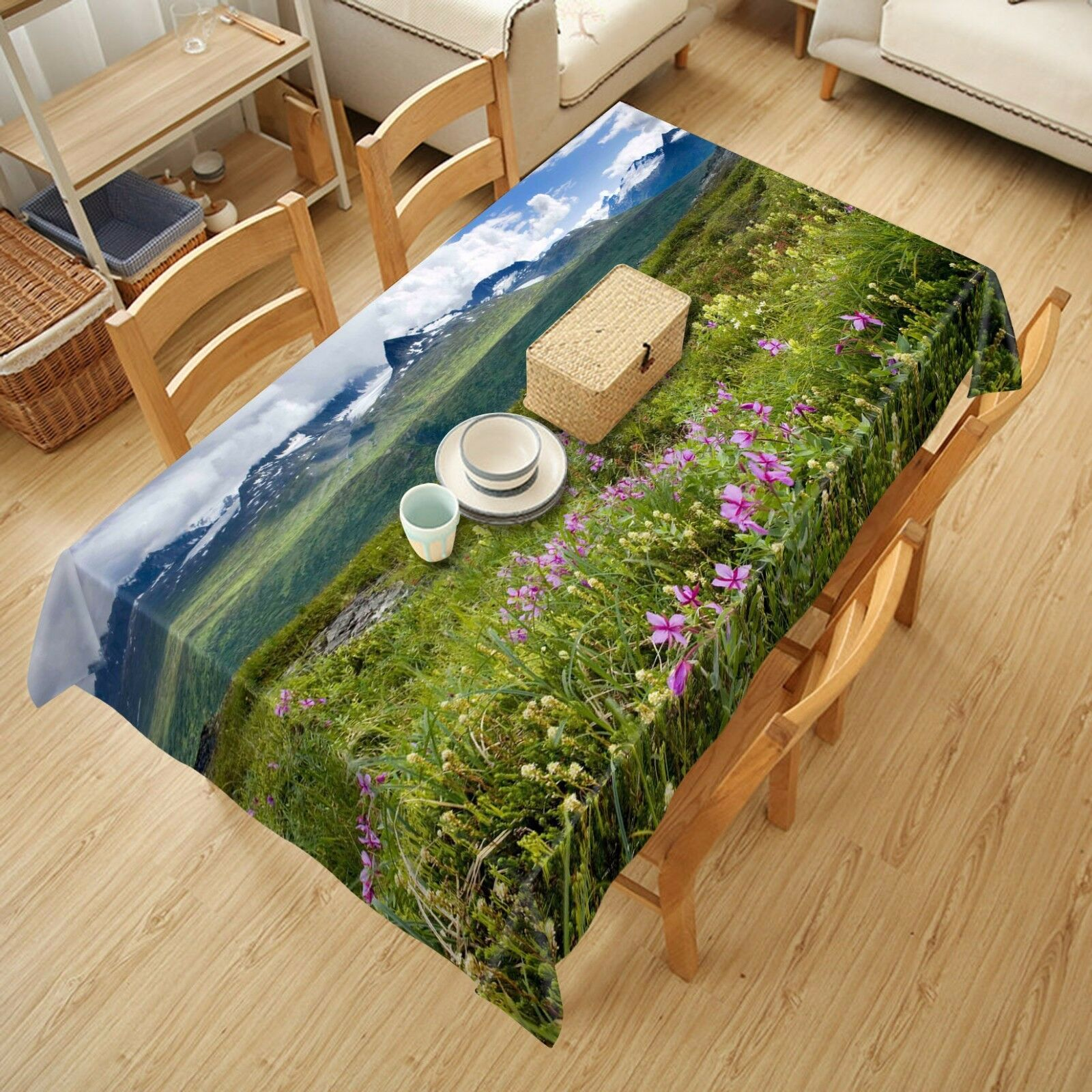 3D Meadow Meadow Meadow 52 Tablecloth Table Cover Cloth Birthday Party AJ WALLPAPER UK Lemon 676ee0