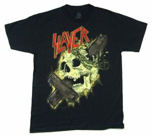 Slayer-Cross-Through-Skull-2015-Tour-Mens-Black-T-Shirt-New-Official-Band-Merch