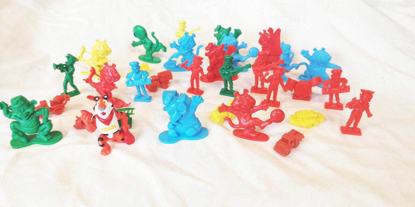 Vintage Cereal Bundle Toy Figures vehicles Rice Krispies Kelloggs