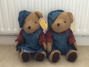 PAIR PLUSH BEARS  BOY AND GIRL IN DENIN 15034 - <span itemprop='availableAtOrFrom'>Presteigne, United Kingdom</span> - PAIR PLUSH BEARS  BOY AND GIRL IN DENIN 15034 - <span itemprop='availableAtOrFrom'>Presteigne, United Kingdom</span>