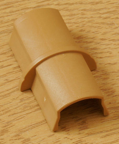 NEW WOOD COLOUR DLine trunking cable wire tidy Joiner Coupler 50*25