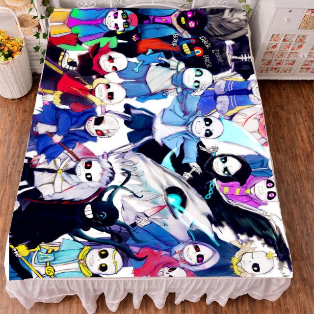 Bedsheet Micro Fiber NEW Game Undertale Sans Print Blanket Otaku Sleep Gift #786