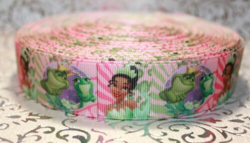 "1/"" DISNEY PRINCESS /& THE FROG GROSGRAIN RIBBON BOWS PARTY DECORATIONS"