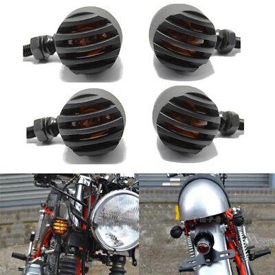4x Black Bullet Turn Signals Fit Harley Dyna Sportster Touring Cafe Racer Bobber