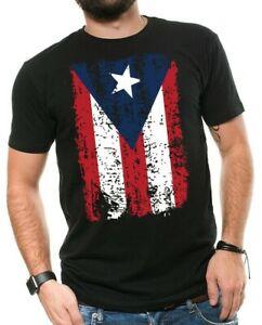 Puerto Rico Splattered Flag Puerto Rican Pride Boricua Mens V-neck T-shirt