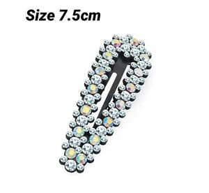 Women-Black-Multi-Colour-Diamond-Crystal-HairPin-Hair-Clip-Barrette-Girl-Jewelry