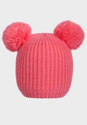 Noix de muscade bébé polaire doublé rose bleu Pom pom chapeau d/'hiver-Tailles 0//3m jusqu/'à 18//24m