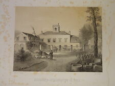 GRANDE Litho ORLY QG PRUSSE SIEGE de PARIS GUERRE 1870 PREUSSEN VAL de MARNE