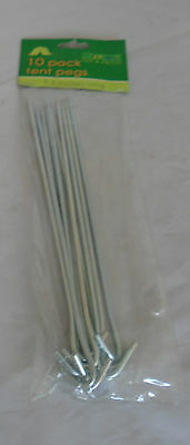 "24cm Let Our Commodities Go To The World 9.5"" Aspiring ""out & About"" Pack Of 10 Angled Tent Pegs"