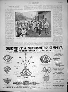 Original-Old-Antique-Print-1897-Famine-India-Lahore-Jamardham-Gsmith-Jewellers