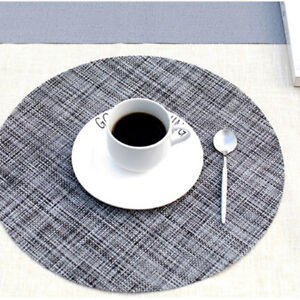 Details About Kitchen Round Linen Placemats Place Mats Dinner Dining Table Decor Co