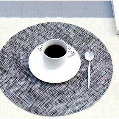 Round Place Mats For Kitchen Table Heat Resistant Dinner Placemats Le Ebay
