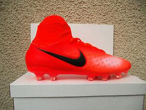 Details zu Nike Magista Orden II FG mit Socke Gr. 42,5 Rot Orange (843812806) NEU