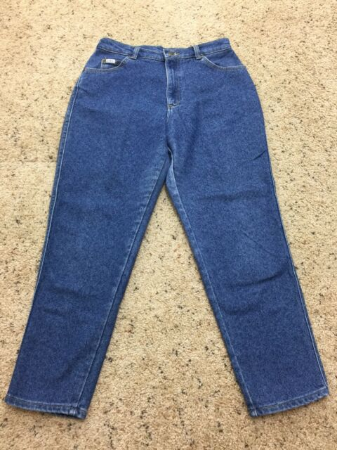 811c7480 Vintage Lee Women's Mom Jeans High Waist Tapered Leg Made in USA Size 14P