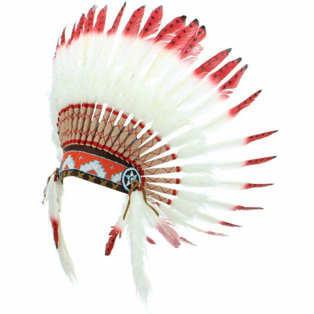 7fa9735ff6dfd Indio tocado jefe plumas sombrero nativo americano Gringo blanco ...