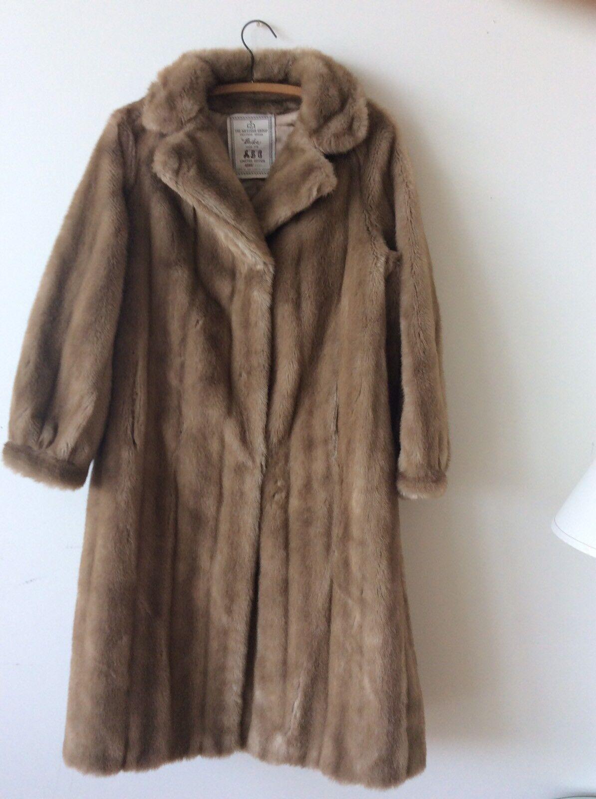 Vintage Mink Fur Coat Blond Beige Size 10 Rare The Metzger Group