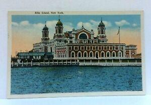New-York-City-NY-Ellis-Island-Vintage-Postcard
