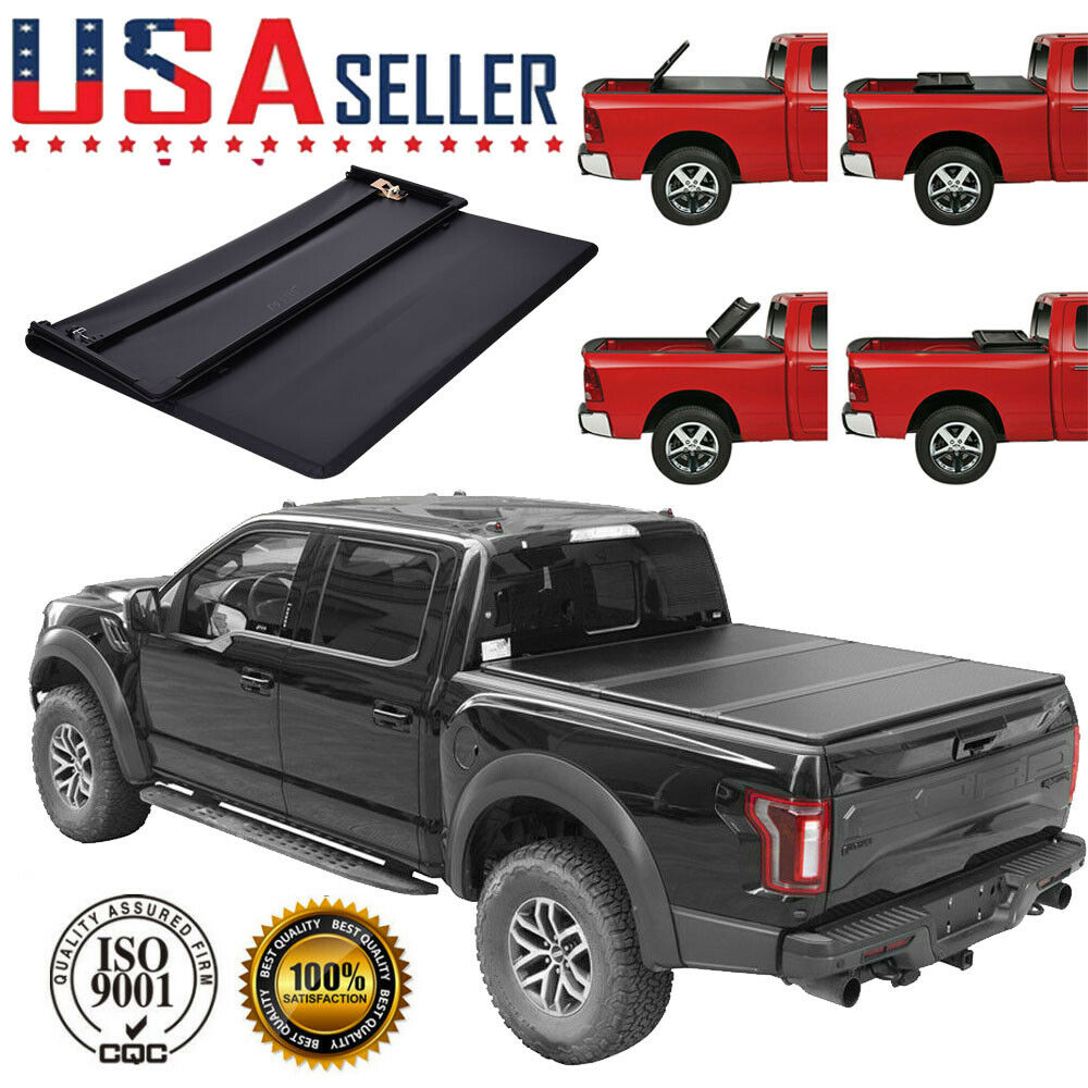 Soft Tri-Folding Tonneau Cover For 2009-2019 Dodge Ram Crew Cab 5.7ft 5.8ft Bed