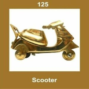 New-Vintage-Brass-Scooter-Nautical-Home-Office-Decor-Collectables