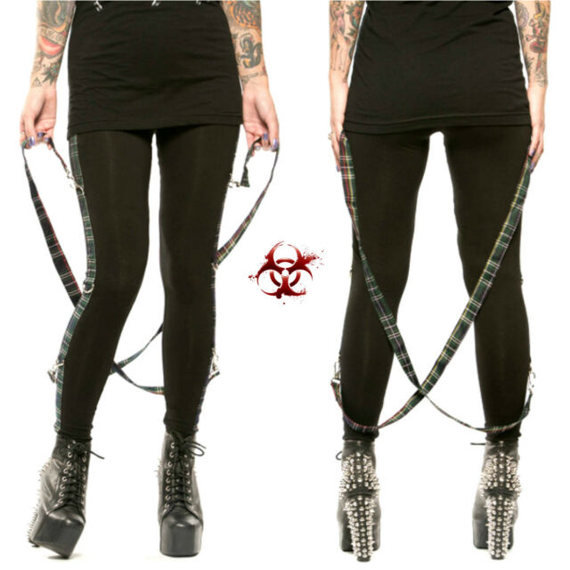 LIP SERVICE LEGGINGS BONDAGE JEANS EXPLOITED GOTH GOTHIC PANTS PUNK ROCKABILLY